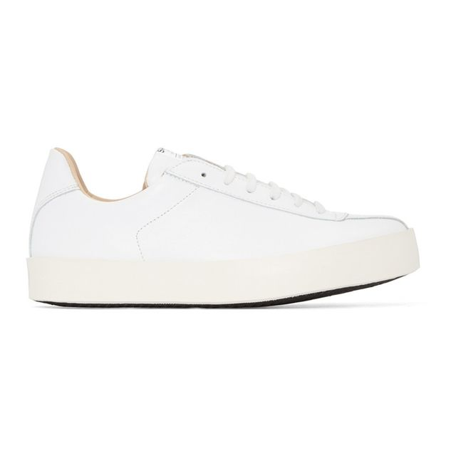 Spalwart White Nappa Court Sneakers