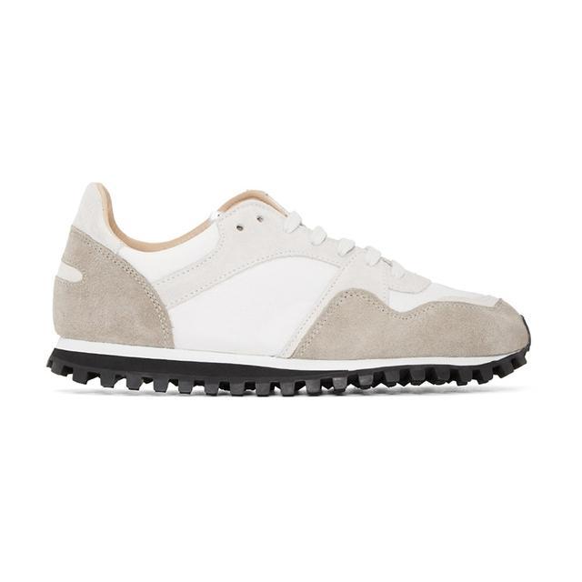 Spalwart White & Beige Marathon Trail Sneakers