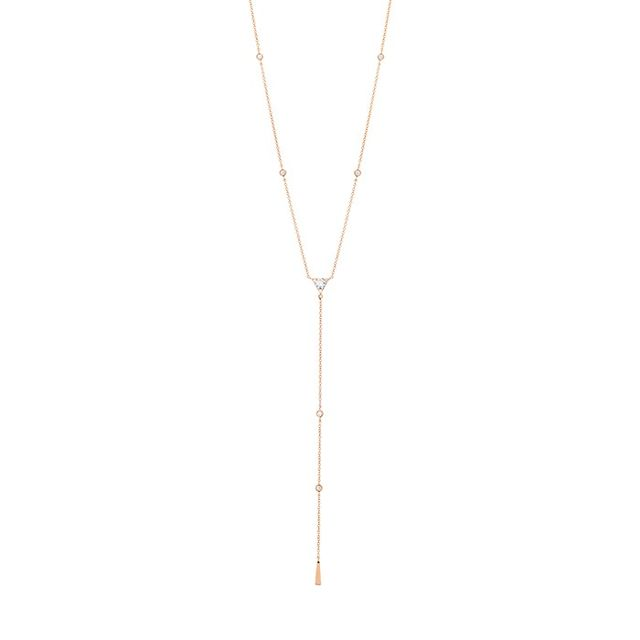 Hearts On Fire Triplicity Triangle Lariat Necklace