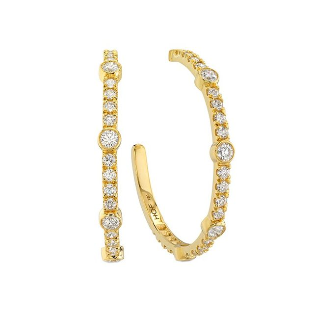 Hearts On Fire Copley Bezel Hoop Earrings