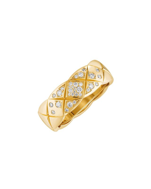 Chanel Coco Rush Ring in 18K Yellow Gold with Diamonds