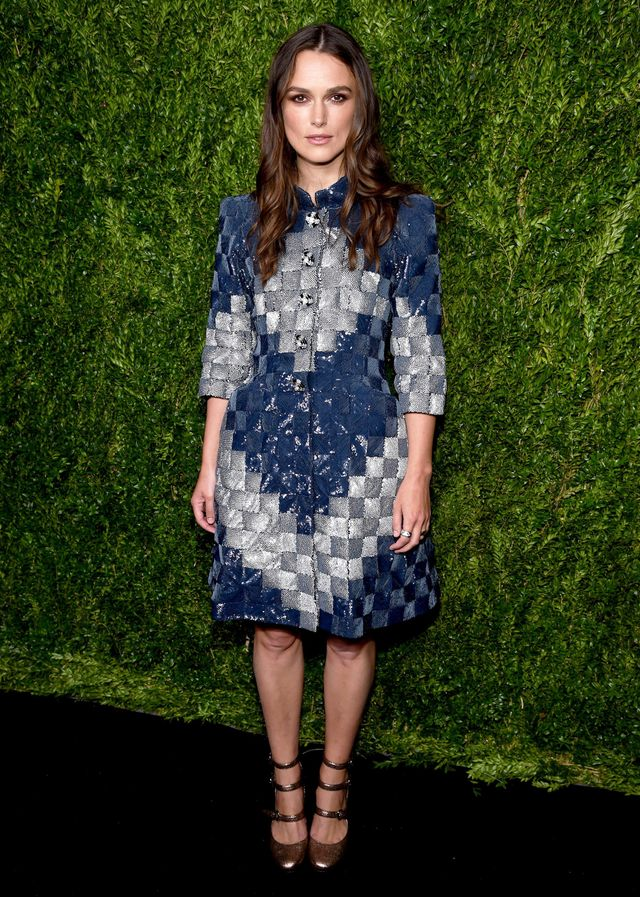 On Keira Knightley: Chanel haute couture dress; Chanel Fine Jewelry rings; Chanel heels.