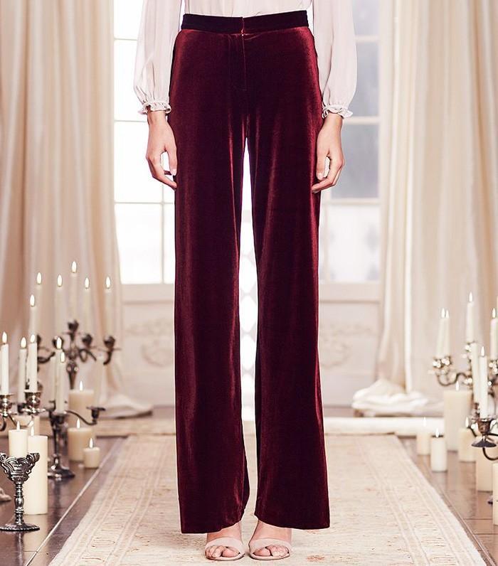 LC Lauren Conrad Runway Collection Wide-Leg Velvet Pants