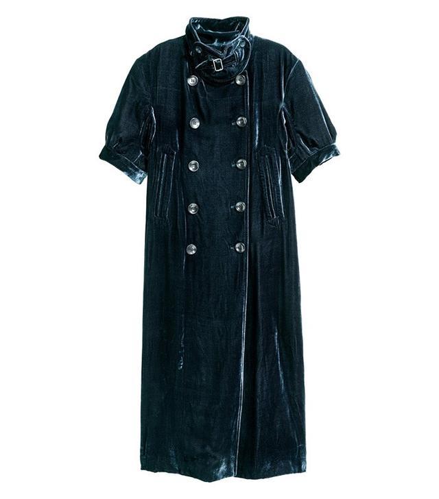 H&M Studio Collection Short-Sleeved Velvet Coat