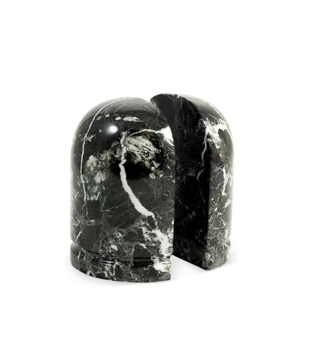 One Kings Lane Pair of Zebra Marble Bookends