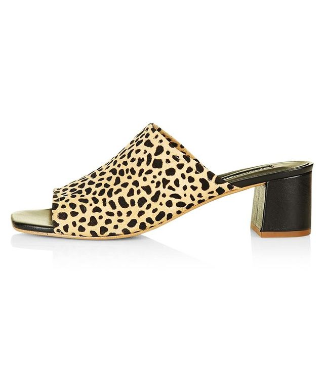 Zara Printed Leather High Heel Shoes