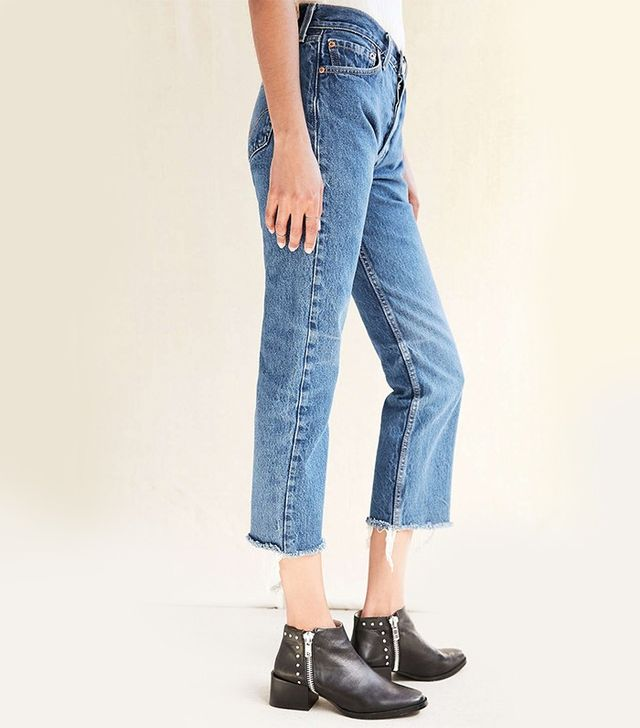 Urban Renewal Remade Levi's Frayed Jeans