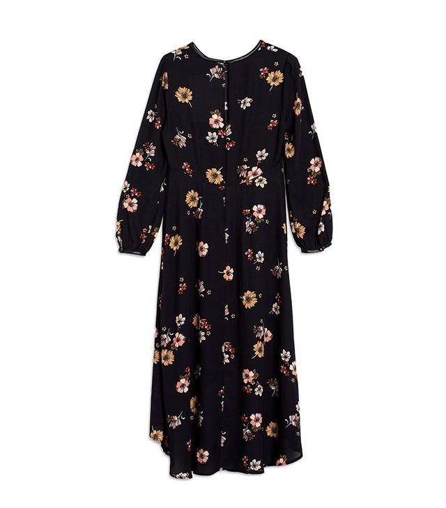 Who What Wear Plus Size Ruffle Neck Maxi Dress
