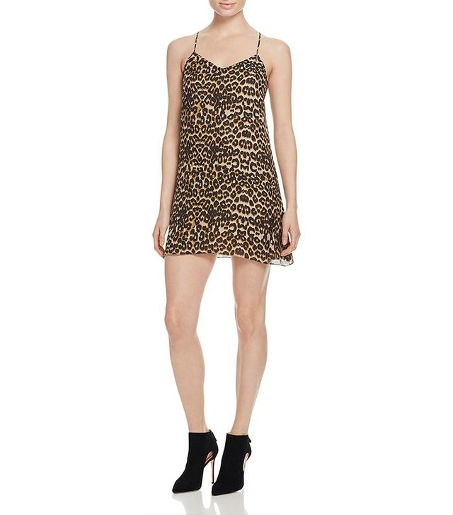 Rebecca Minkoff Sam Leopard Print Slip Dress