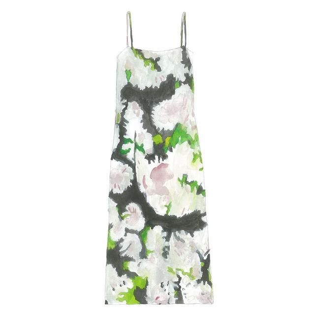 Adam Lippes Floral-Print Slip Dress