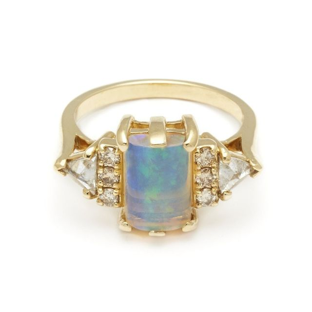 Anna Sheffield Opal Bea Engagement Ring