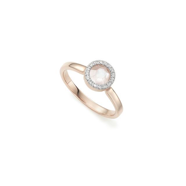 Monica Vinader Naida Mini Circle Moonstone Ring
