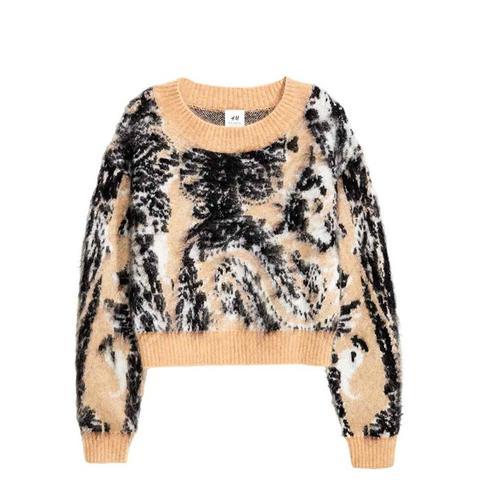 Knitted Wool-Blend Jumper