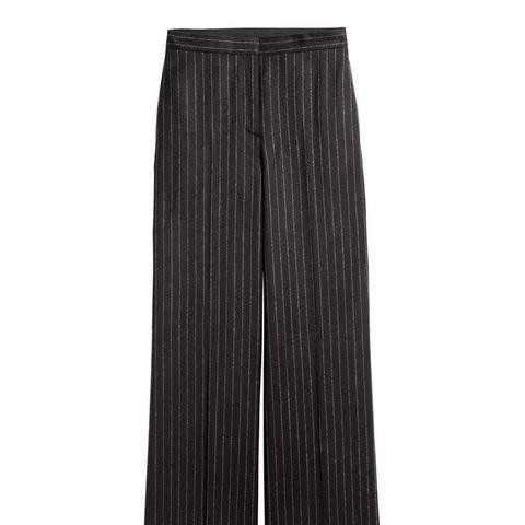 Wide Suit Trousers in Wool
