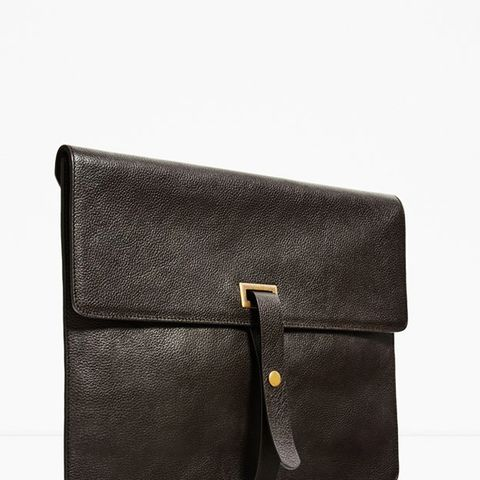 Studio Collection Brown Leather Clutch Bag