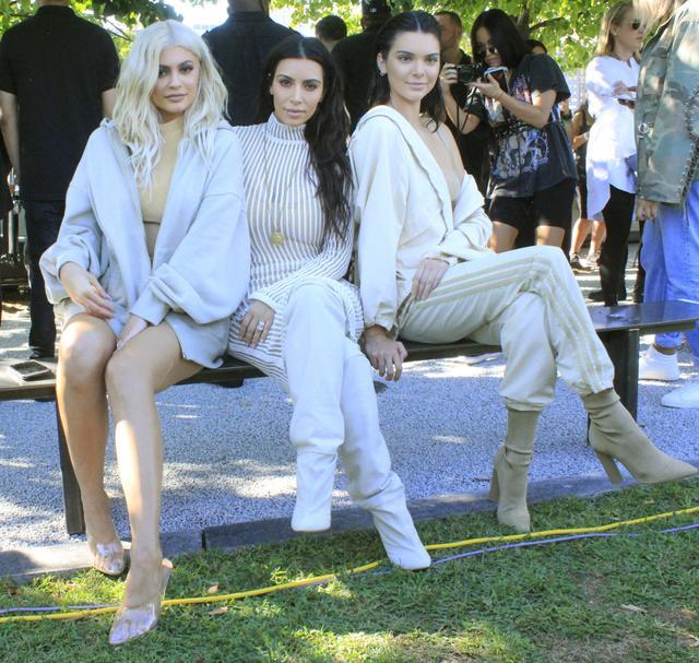 On Kylie Jenner, Kim Kardashian West, and Kylie Jenner: Yeezy Season 4.