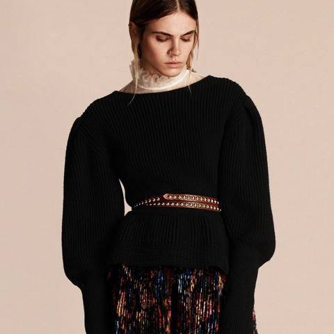 Multi-Stich Wool Cashmere Sweater