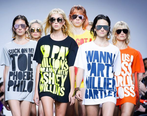 Henry Holland's show during London Fashion Week also celebrated his brand's 10th anniversary. To commemorate the occasion, the designer released his classic slogan T-shirts to shop right now.