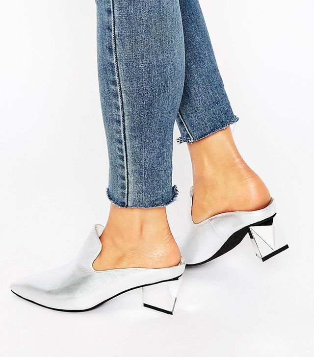 Jeffrey Campbell Olenna Leather Point Heeled Mules