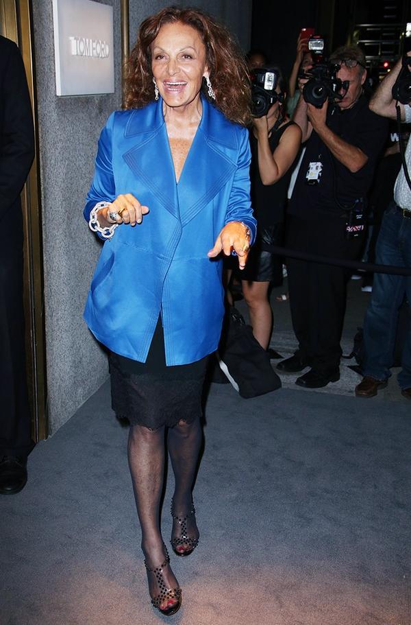 WHO:Diane von Furstenberg WHAT:Tom FordF/W 16 show