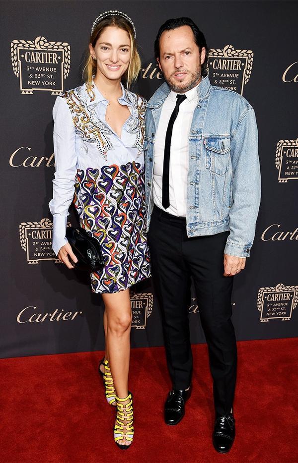 WHO:Sofía Sanchez de Betak WHAT:Cartier Fifth Avenue grand reopening event WEAR: Miu Miu Classic Bead and Crystal Double Headband ($550); Mary Katrantzou dress; Cartier...