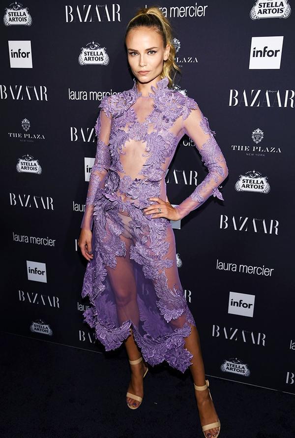 WHO:Natasha Poly WHAT:Harper's Bazaar Icons Party WEAR: Francesco Scognamiglio dress.