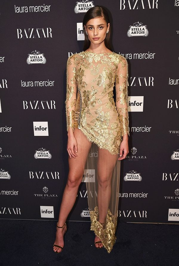 WHO: Taylor Hill WHAT:Harper's Bazaar Icons Party