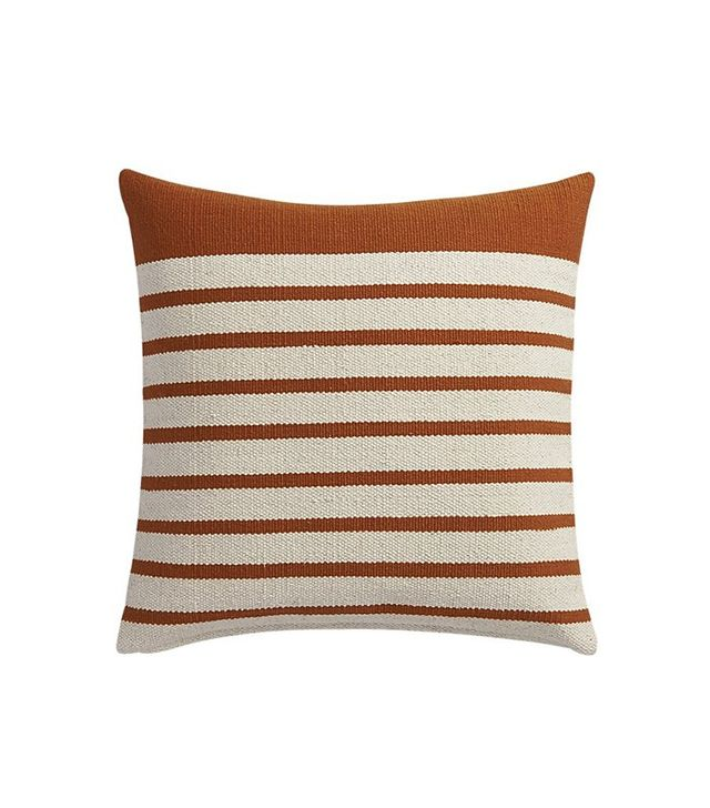 CB2 Division Rust Pillow
