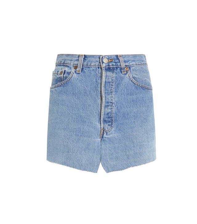 Vetements Denim Mini Skirt
