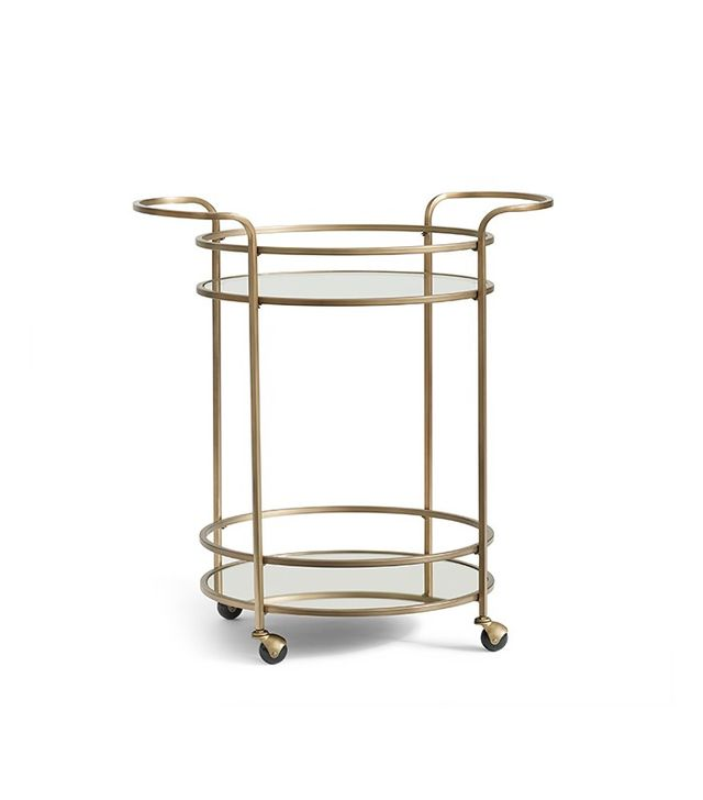 pottery barn tristan bar cart