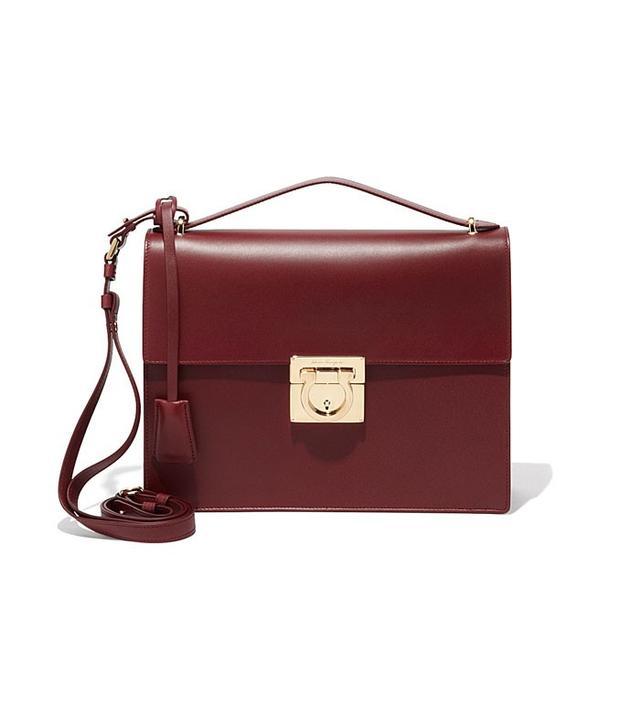 Salvatore Ferragamo Medium Gancio Lock Shoulder Bag