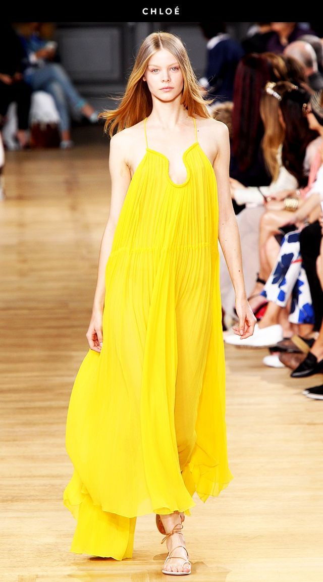 Chloe runway yellow dress