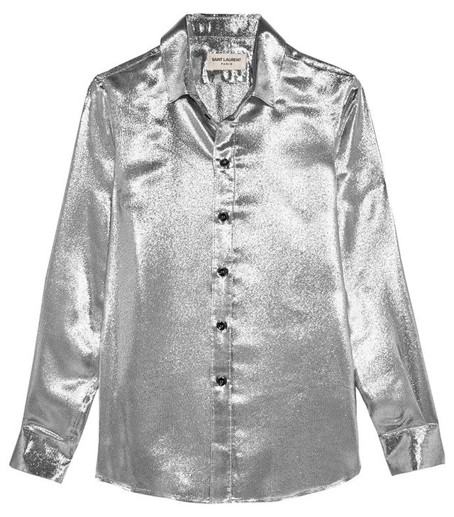 Saint Laurent Silk-Blend Lamé Shirt