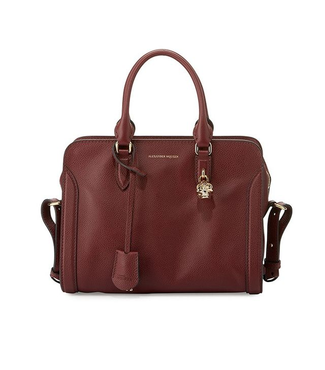 Alexander McQueen Padlock Small Leather Satchel Bag