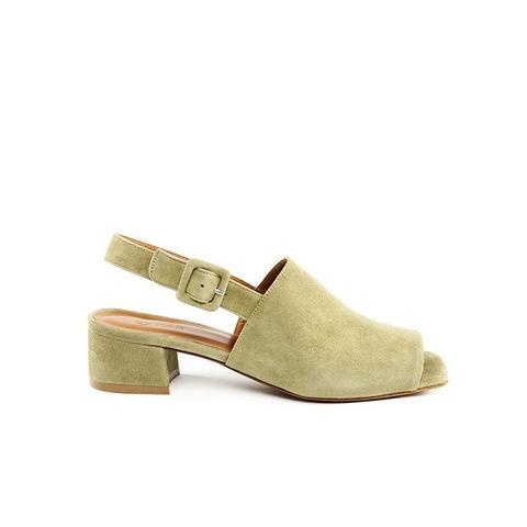 Scandi Strap Green Heel