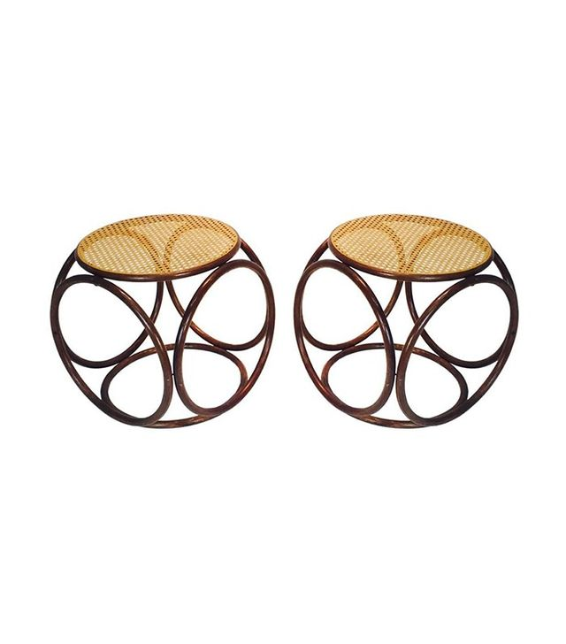 Thonet Pair of Bentwood Stools
