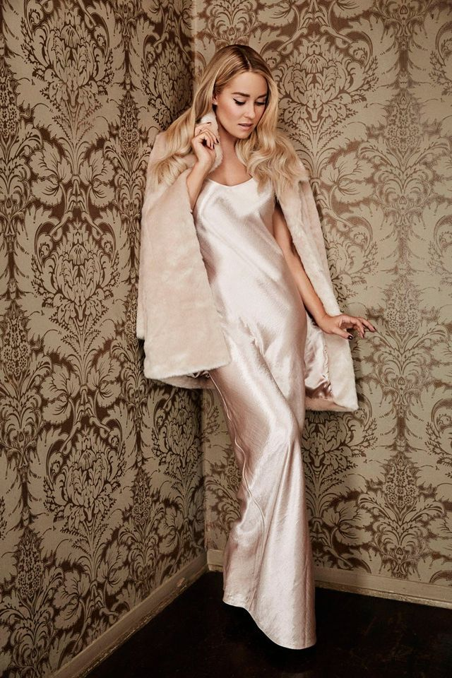 LC Lauren Conrad Runway Collection Satin Full-Length Gown