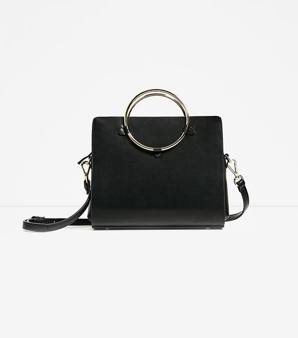 Zara Metallic Straps Mini City Bag