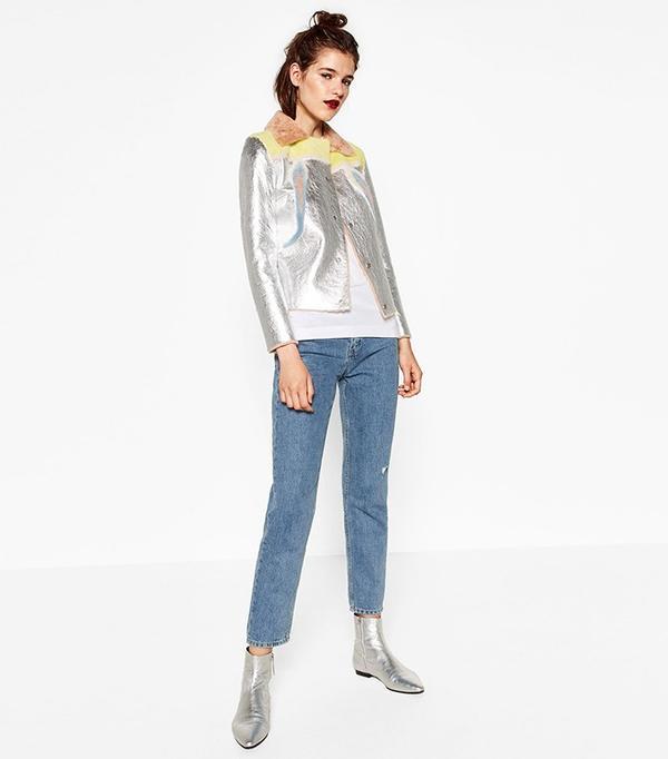 Zara Reversible Leather Jacket