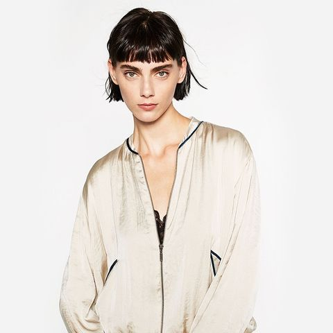 Glossy Embroidered Bomber