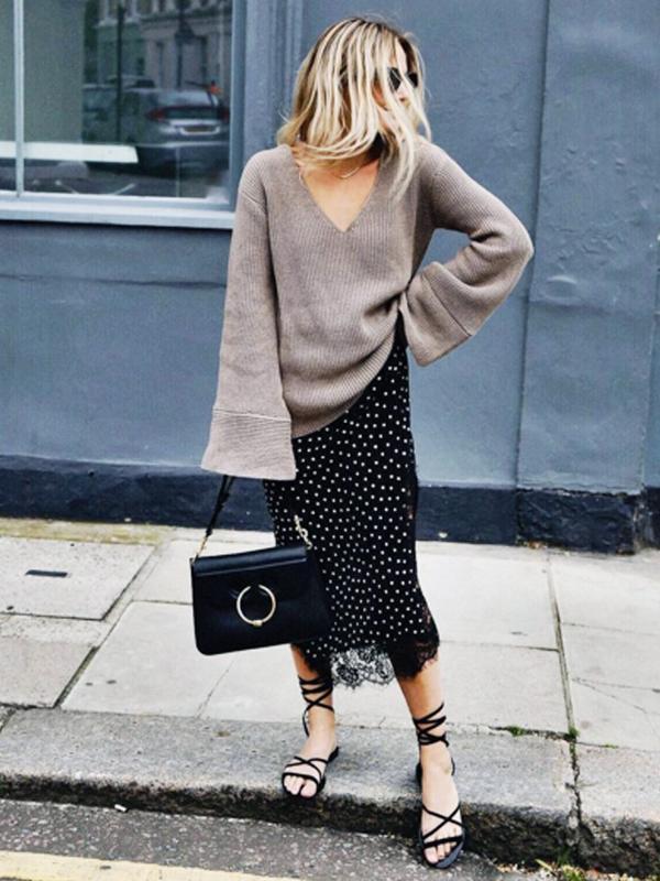 how to wear a slip dress in autumn winter