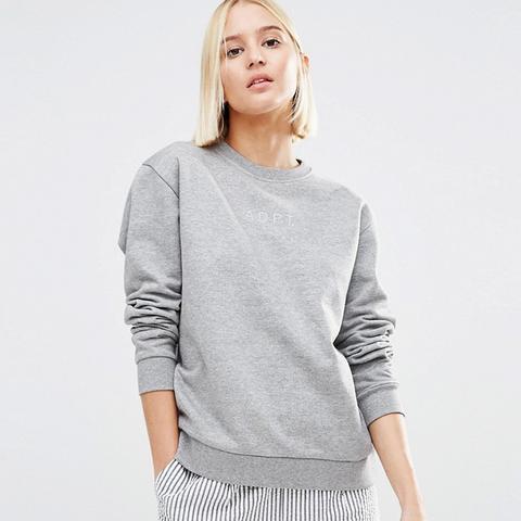 Cropped Co-ord Logo Sweatshirt