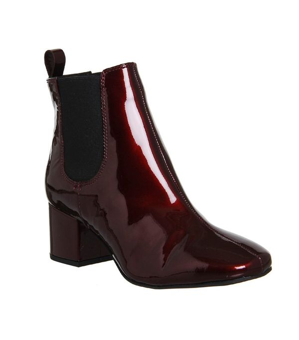 Office oxblood boots