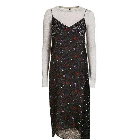Hybrid Mix Print Dress by Boutique