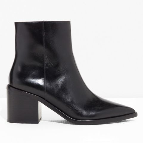 Pointy Block Heel Boots