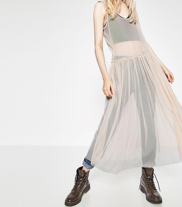 Zara Tulle Sleeveless Dress
