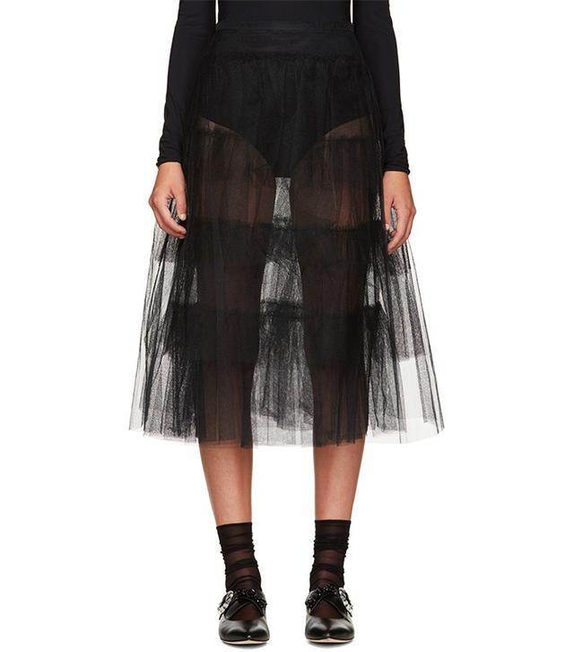 Simone Rocha Black Tulle Skirt