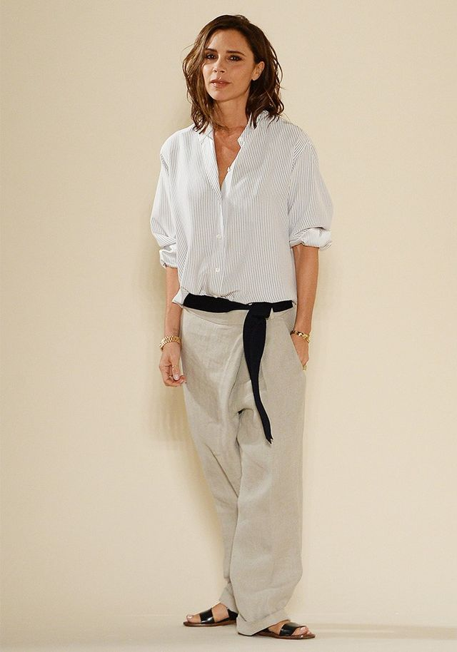 Victoria Beckham Wore the Chillest Outfit to Her Runway Show