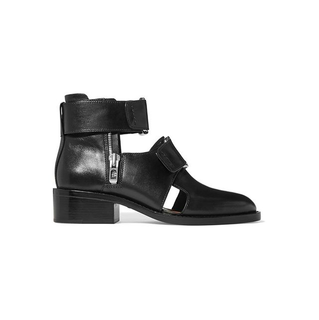 3.1 Phillip Lim Addis buckled leather ankle boots