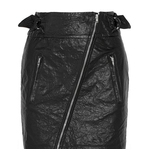 Breezy Crinkled Faux Leather Mini Skirt